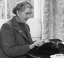 Agatha Christie typing