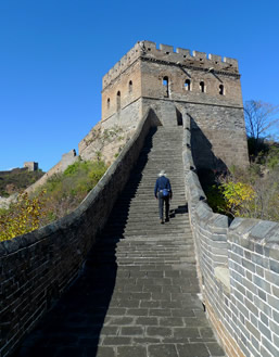 Steven Forrest in China at the Great Wall